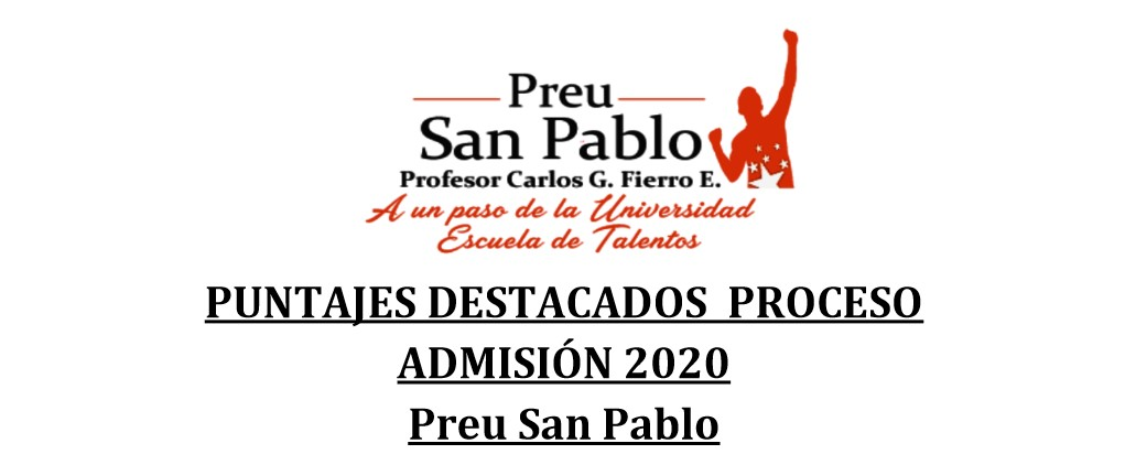 RESULTADOS PROCESO ADMISION 2020